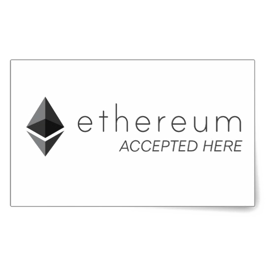 Ethereum Accepted Here Transparent