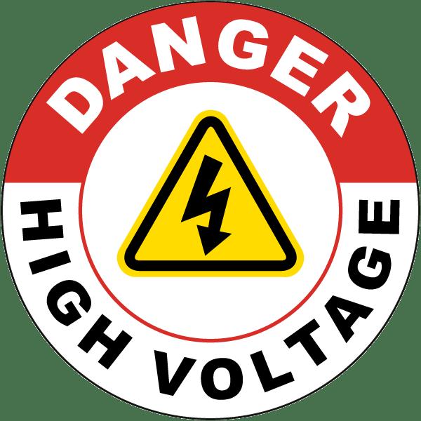 Danger High Voltage Sign PNG Pic