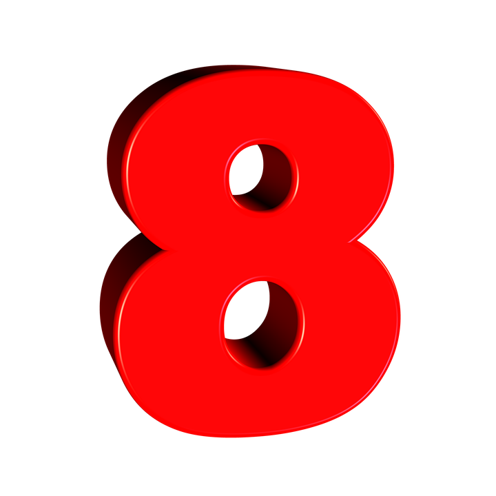 8 Number PNG Photo
