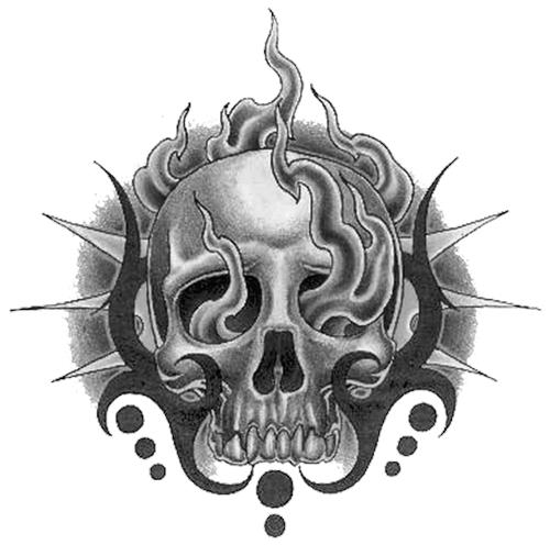 Skull Tattoo Free PNG Image