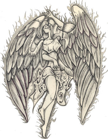 Angel Tattoos PNG Image