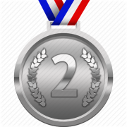 Silver Medal PNG Clipart