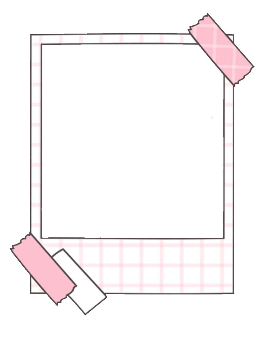 Aesthetic Polaroid Frame Transparent