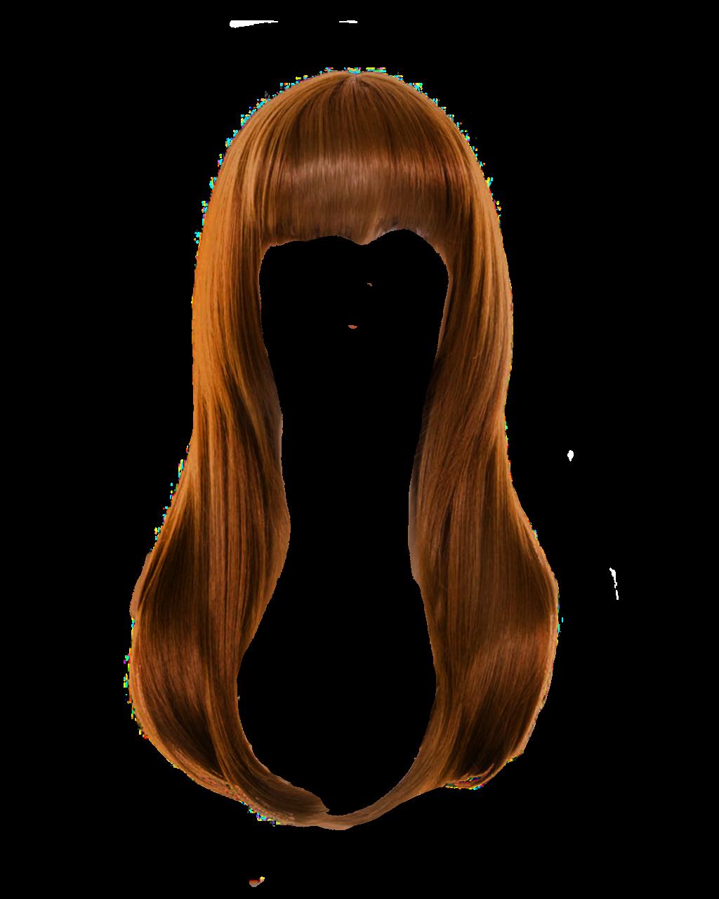 Brown Women Hair PNG File