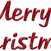 Merry Christmas Word Art PNG Clipart