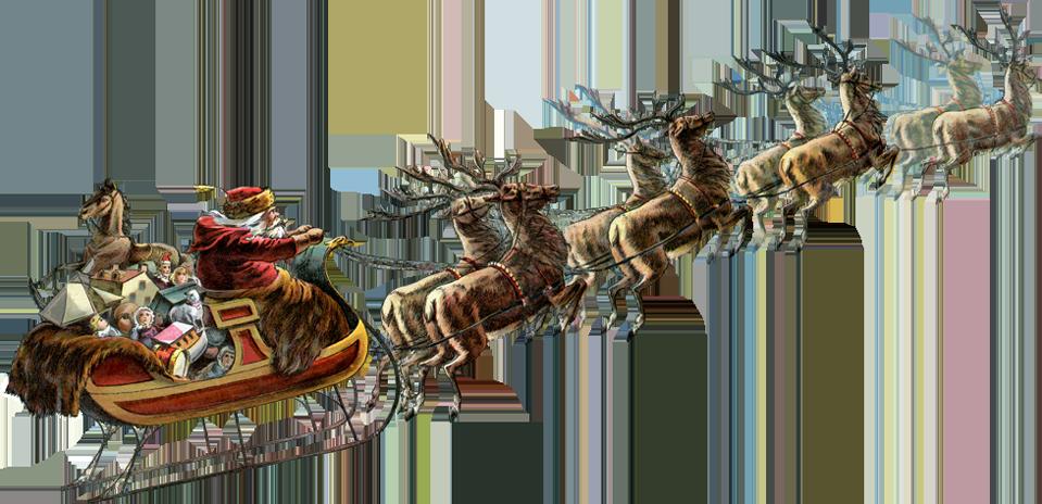 Reindeer Sleigh PNG Download Image