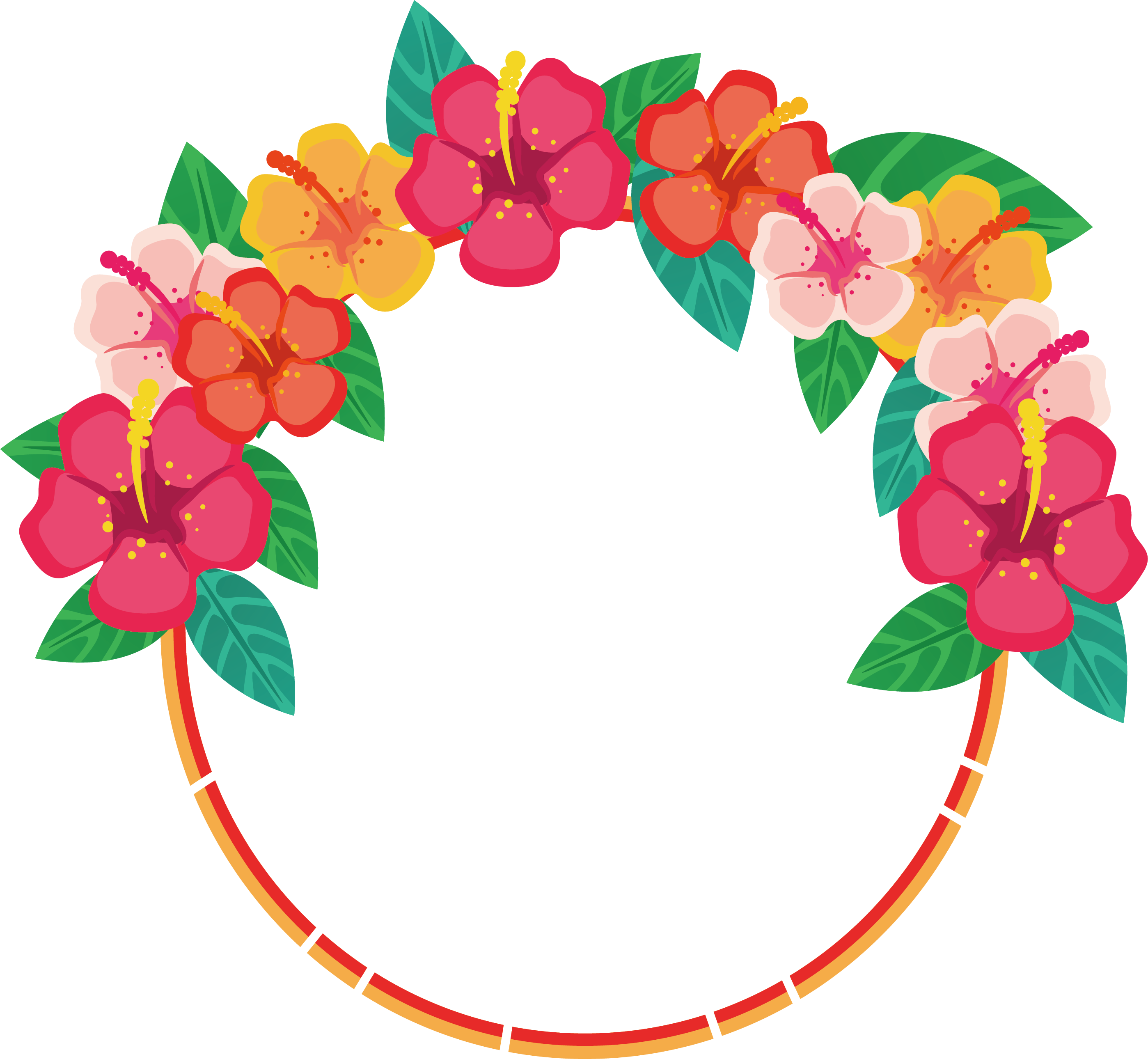 Round Floral PNG Images