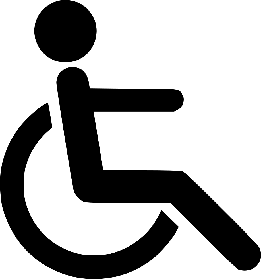 Silhouette Disabled PNG File Download Free