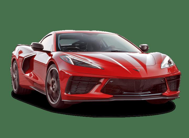 Red Corvette Car PNG