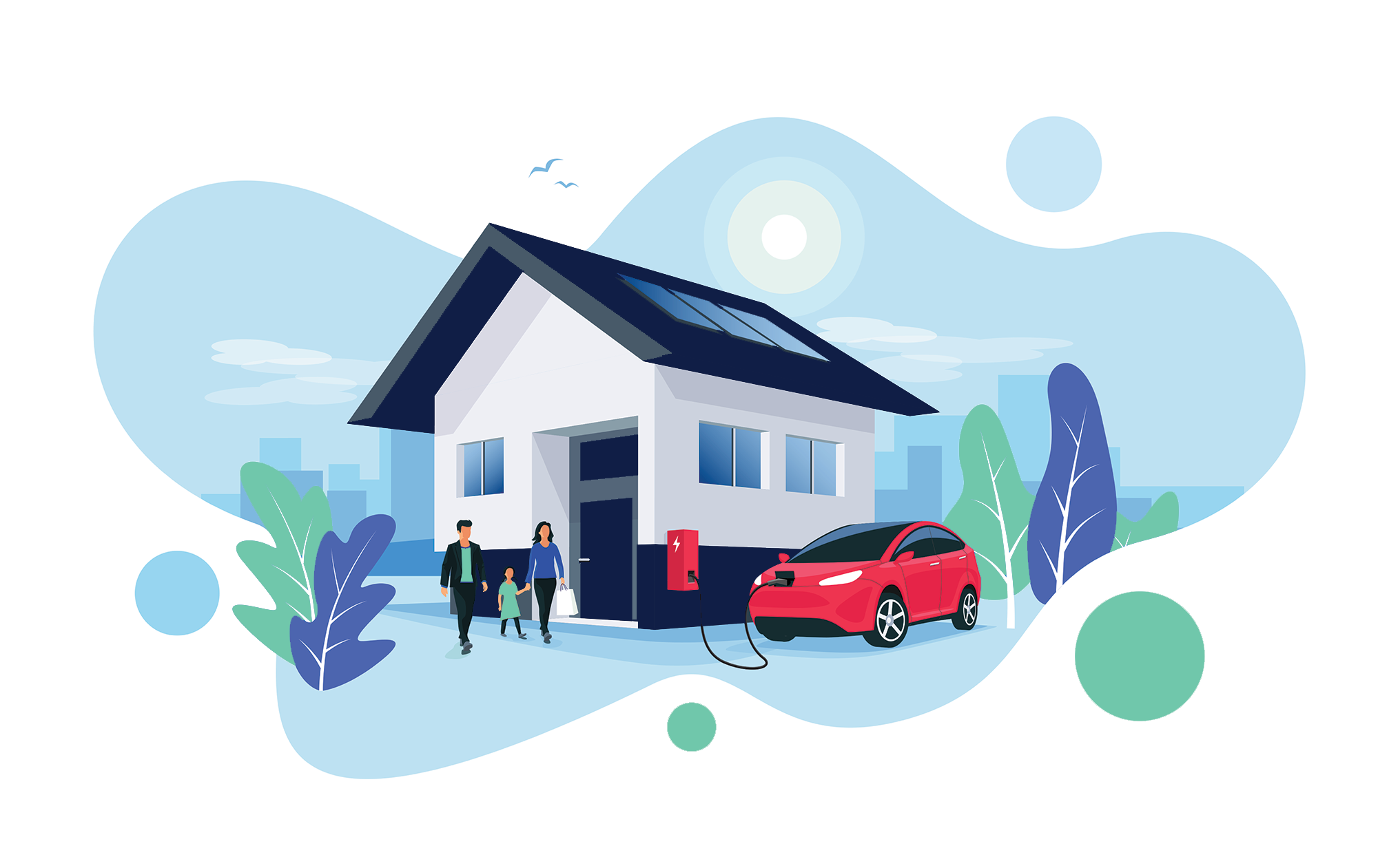 Electric Car Clipart PNG Free Image