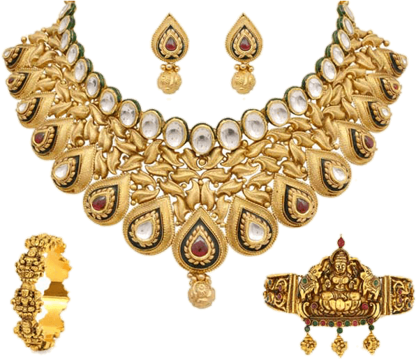 Gold Jewellery PNG High Quality Image