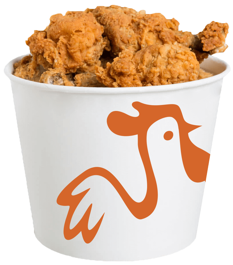 Fried Chicken Bucket PNG Free Image