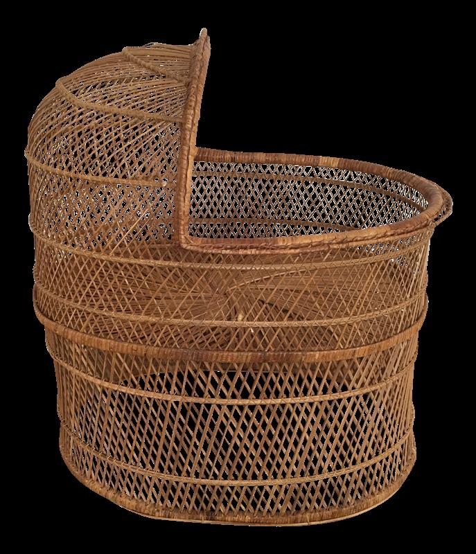 Newborn Baby Basket PNG Free Image